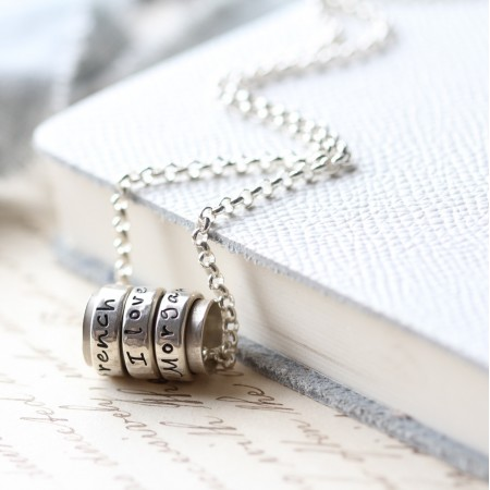 Silver Spinning Ring Pendant