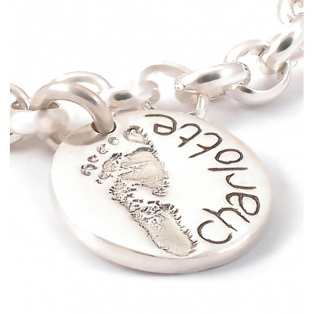 Ten Tiny Toes Circle Charm on a Chain
