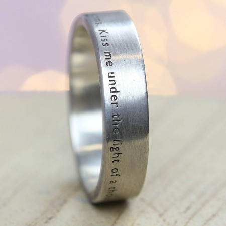 The AURA Personalised  Silver Ring