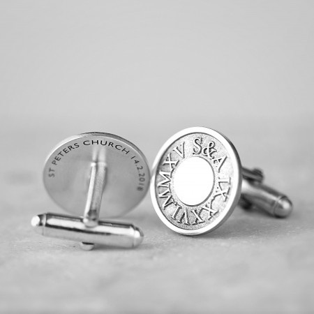 Personalised Deep Engraved Silver Cufflinks