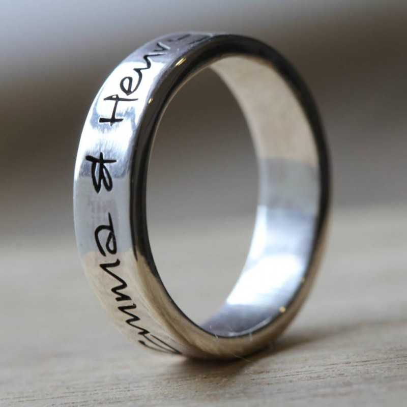 Own Handwriting Personalised Ring