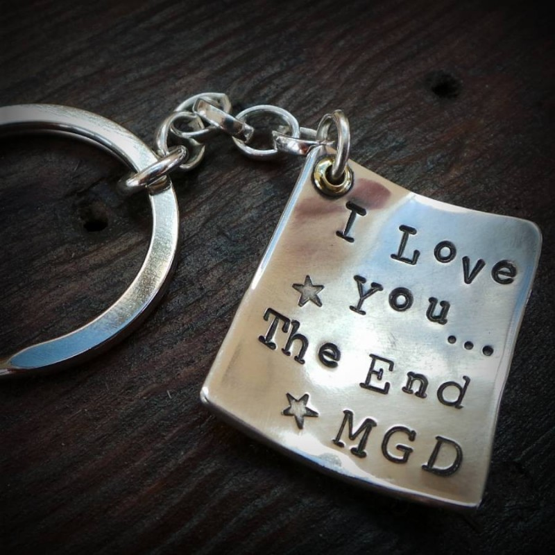 Personalised Silver Message Keyring