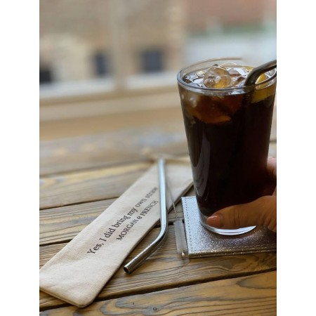 Eco Reusable Personalised Steel Straw Gift Set