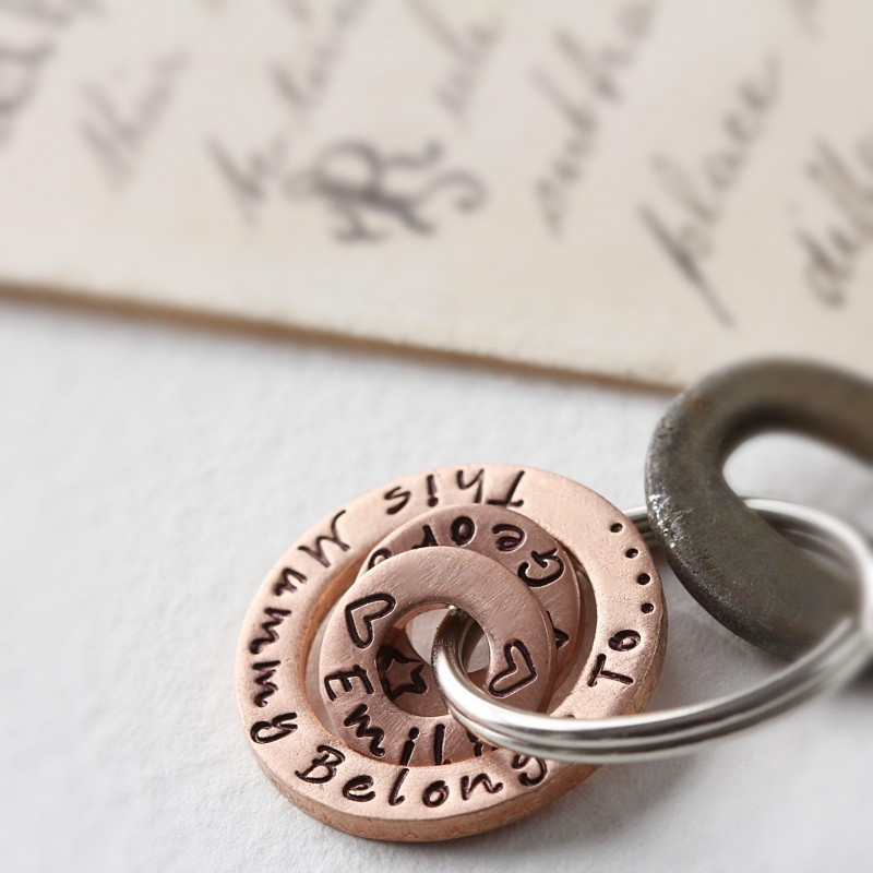 You Belong to me Copper Keyring