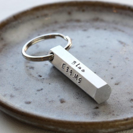Personalised Hex Bar Keyring