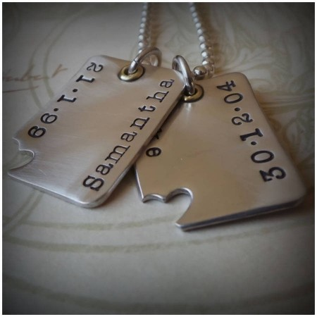 'Piece Of My Heart' Dog Tags