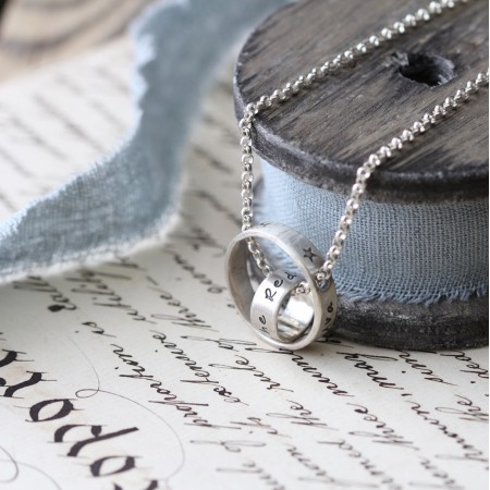 Personalised Double Ring Lunar Necklace