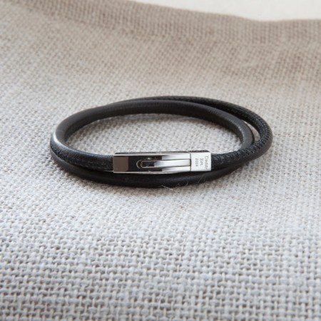 Personalised Slender Leather Bracelet
