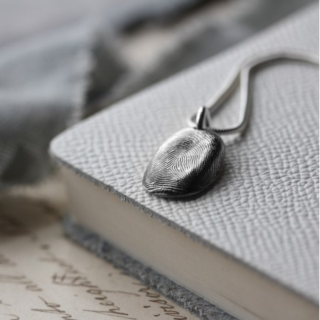 Fingerprint Pebble Necklace