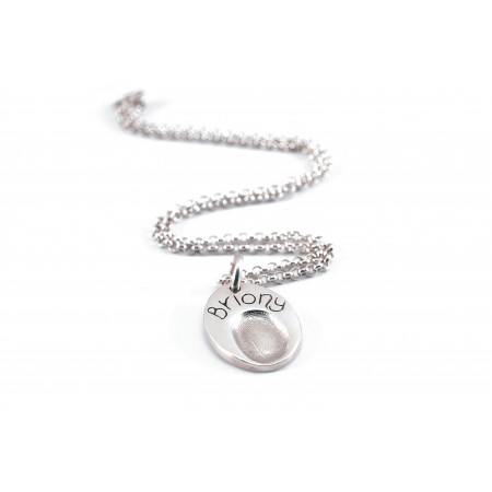 Fingerprint Impression Teardrop Charm
