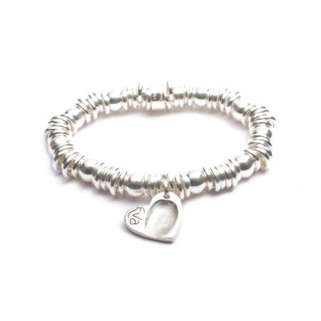Heart FingerPrint Charm Sweetie Bracelet