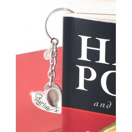 Heart FingerPrint Pendant Bookmark