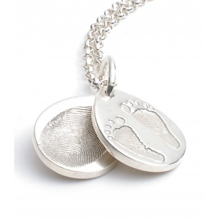 Teardrop FingerPrint Charm Necklace