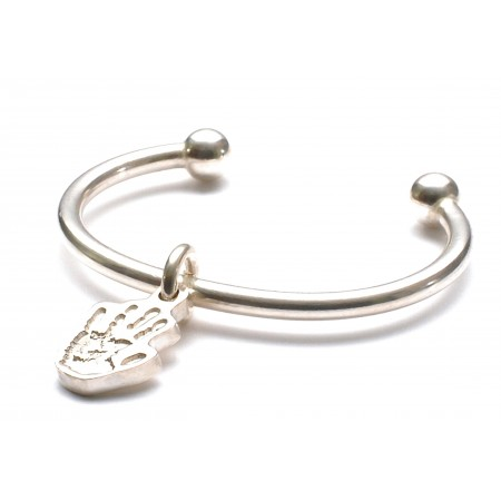 Baby's Torque Bangle with Little Hand/Footprint