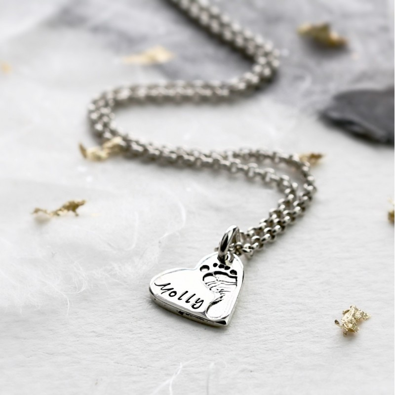 Ten Tiny Toes Heart Charm