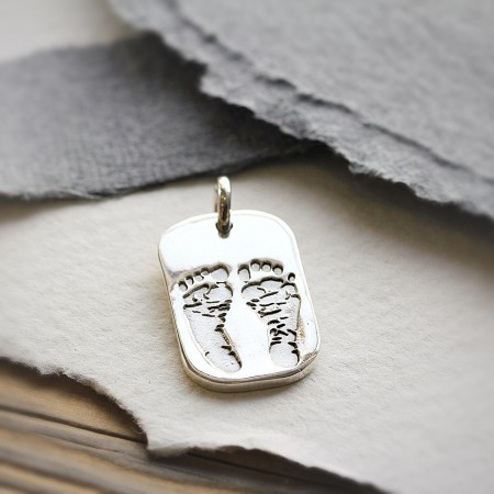 Ten Tiny Toes Dog Tag Pendant