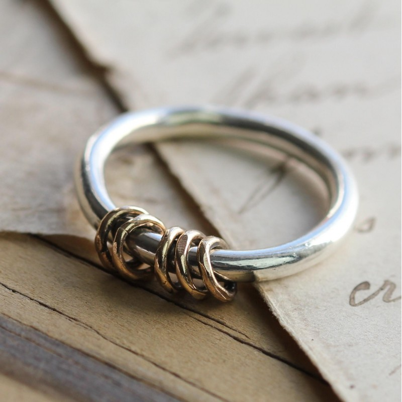 Gold and Silver Milestone Ring