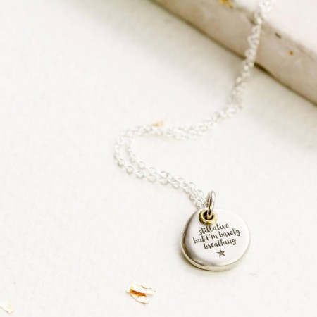 Personalised Silver Pebble Necklace