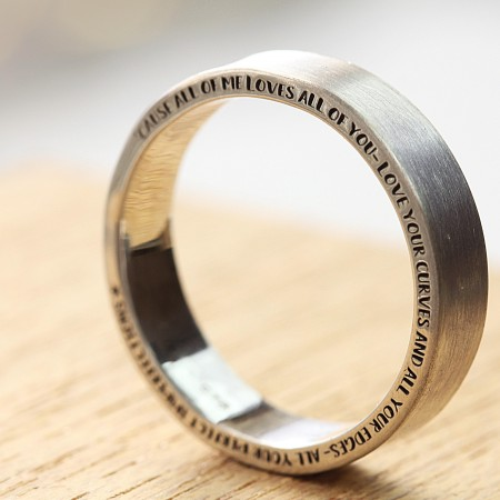 The HALO engraved Ring with All of YOU font
