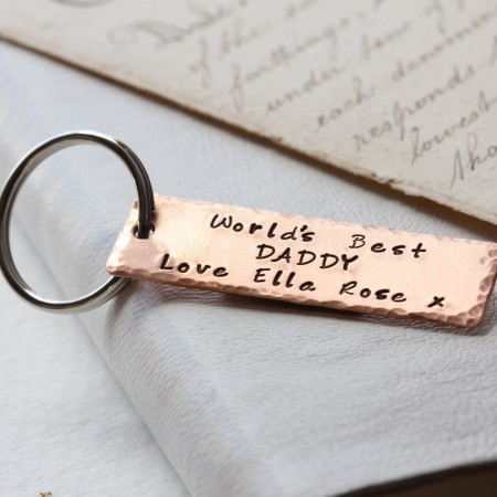 Copper Personalised Keyring