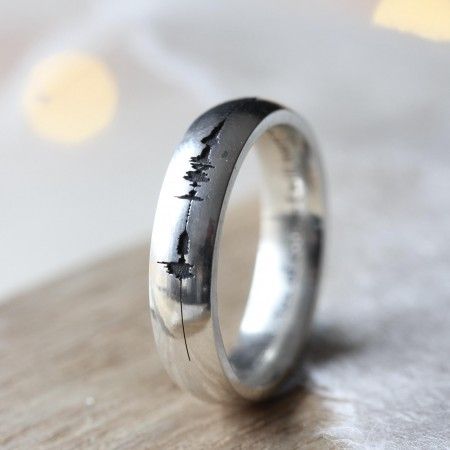 Soundwave Personalised Ring