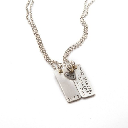 Two Hearts Beat As One' Couples Necklace