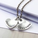 Personalised Sterling Silver Curvy heart Pendant