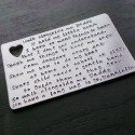 Personalised Message Wallet Insert