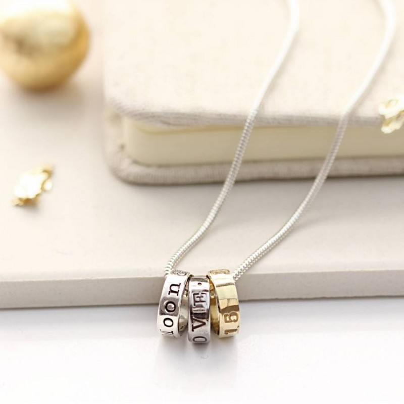 Black Gold and Silver Fearne Necklace