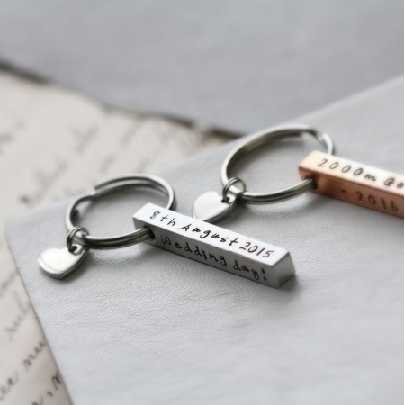 Personalised Square Bar Keyring