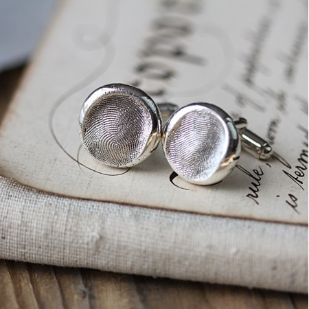 Fingerprint Button Cufflinks