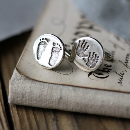 Ten Tiny Toes Circle Cufflinks