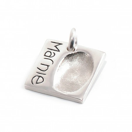 Fingerprint Impression Square Charm
